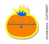 cartoon tomato flat icon. the...