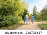 back view of grandparents and... | Shutterstock . vector #216728617