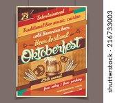 oktoberfest german beer... | Shutterstock .eps vector #216733003