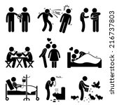 virus spread diseases... | Shutterstock . vector #216737803