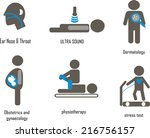 medical icons with ear nose... | Shutterstock .eps vector #216756157