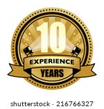 label with the text 10 years... | Shutterstock .eps vector #216766327