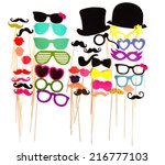 photobooth birthday and party... | Shutterstock . vector #216777103