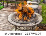 Fire Pit On Deck Outdoors