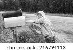 Young Girl Checking Rural...
