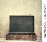 open old suitcase | Shutterstock . vector #216804997