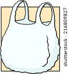 plastic shopping bag | Shutterstock .eps vector #216809827
