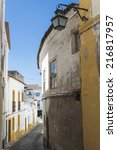 street in evora  portugal.... | Shutterstock . vector #216817957