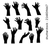 hand ghosts rising from the... | Shutterstock .eps vector #216834667
