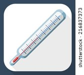 thermometer flat icon with long ...   Shutterstock .eps vector #216837373