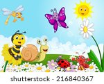 cartoon small animals | Shutterstock . vector #216840367