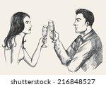 sketch illustration of a man... | Shutterstock .eps vector #216848527