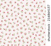 Stock vector seamless pattern of a little pink flowers 216864157