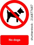 no dogs | Shutterstock .eps vector #216877687
