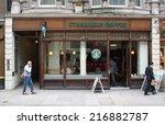 london  england   sept 11  2014 ...   Shutterstock . vector #216882787