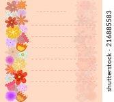 flowers background on sheet of...   Shutterstock .eps vector #216885583