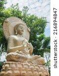 Limestone Buddhist Statue