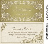 baroque invitation card in old... | Shutterstock .eps vector #216900343
