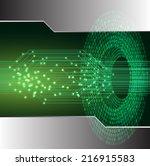 green light abstract technology ... | Shutterstock .eps vector #216915583