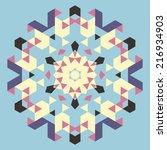 vector circular geometric... | Shutterstock .eps vector #216934903