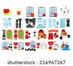 a set of health related... | Shutterstock .eps vector #216967267
