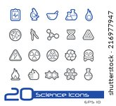 science icons    line series | Shutterstock .eps vector #216977947