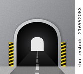 road tunnel. vector... | Shutterstock .eps vector #216992083