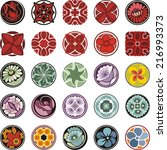 vector set of floral ornamental ...   Shutterstock .eps vector #216993373