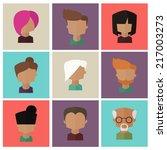 people faces icons set. avatars ...