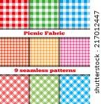 set of nine samples checkered... | Shutterstock .eps vector #217012447