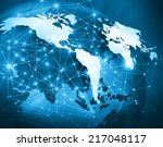 best internet concept of global ... | Shutterstock . vector #217048117