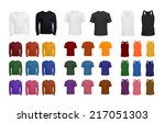 t shirt collection | Shutterstock .eps vector #217051303