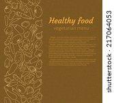 healthy food. vegetarian menu | Shutterstock .eps vector #217064053