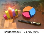 financial graphs as a... | Shutterstock . vector #217077043