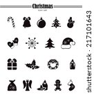 icons set for christmas | Shutterstock .eps vector #217101643