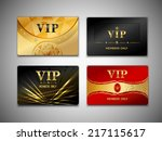 small vip red black and golden... | Shutterstock .eps vector #217115617