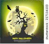 vector background.happy... | Shutterstock .eps vector #217116103
