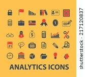 analytics  business... | Shutterstock .eps vector #217120837