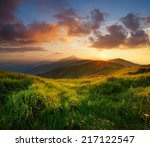 mountain valley during bright... | Shutterstock . vector #217122547