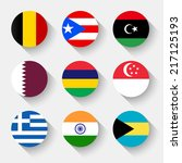 flags of the world  set 02 with ... | Shutterstock .eps vector #217125193