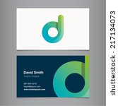 business card with alphabet... | Shutterstock .eps vector #217134073