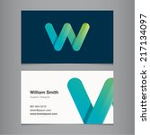 business card with alphabet... | Shutterstock .eps vector #217134097