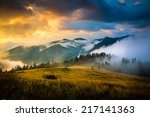 amazing mountain landscape with ... | Shutterstock . vector #217141363