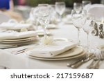 served banquet table | Shutterstock . vector #217159687