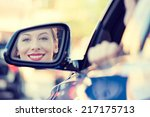 Happy Young Woman Driver...
