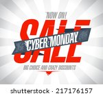 cyber monday sale design. | Shutterstock .eps vector #217176157