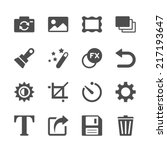 camera application icon set ... | Shutterstock .eps vector #217193647