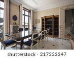 interior of a luxury dinning... | Shutterstock . vector #217223347