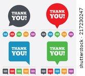 thank you sign icon. gratitude... | Shutterstock .eps vector #217230247