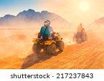 motorcycle safari egypt people... | Shutterstock . vector #217237843